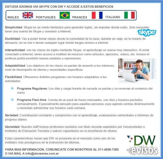 Estudiá idiomas vía skype