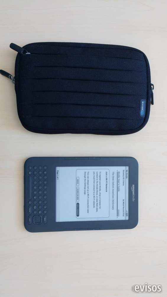 Kindle 3 wifi, excelente con funda belkin
