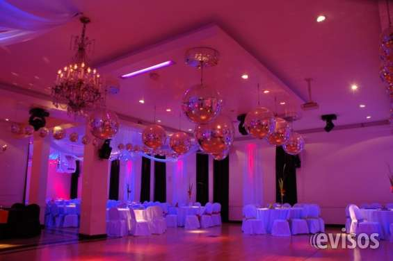 Iluminacion de salones de fiestas