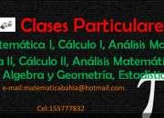 Clases particulares matematica algebra, calculo I,II, análisis I,II UNS,UTN,Bahia Blanca