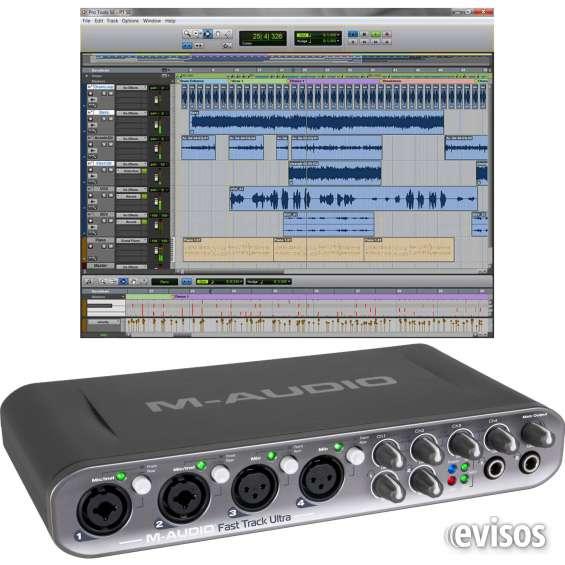 Placa de sonido m-audio fast track ultra high-speed 8x8 usb protools mac pc