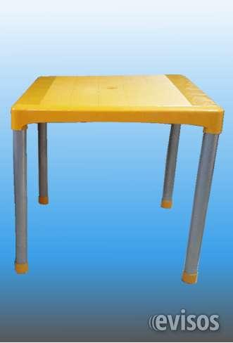 Mesas plasticas patas de caño
