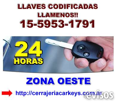 Llaves codificadas loma hermosa telef *15-5953 1791* zona san martin