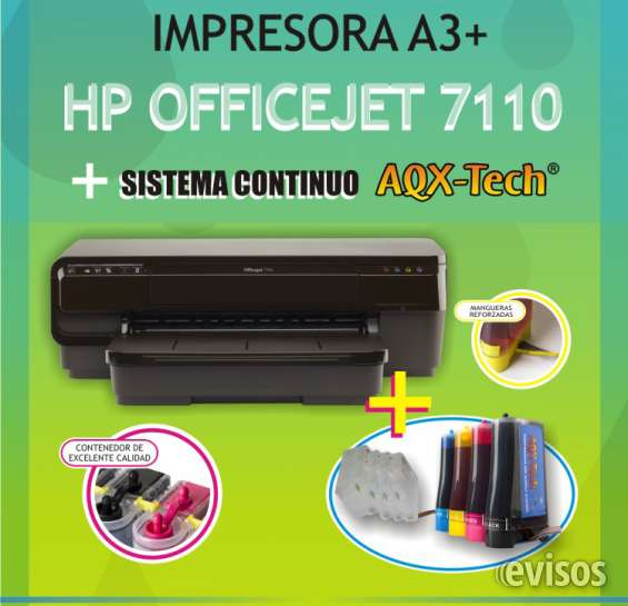 Fotos de Se vende impresora hp 7110 a3 + sistema continuo! 2