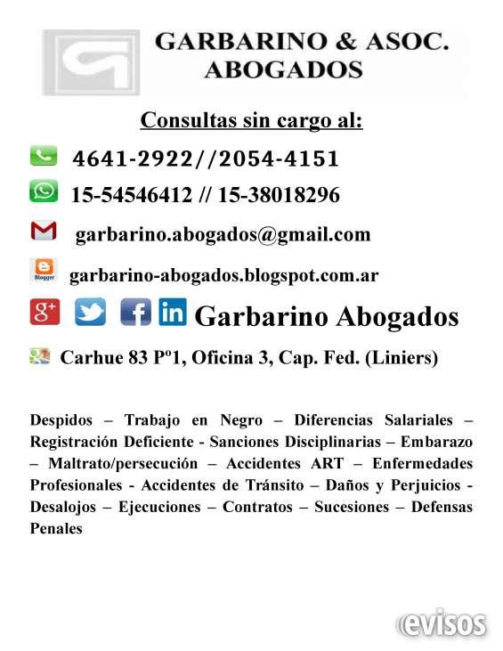 Abogados laborales consulte gratis tel 4641 2922