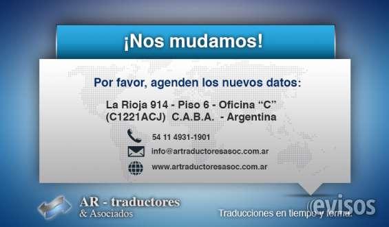 A.r. traductores & asoc. - traducciones de inglés - traductores matriculados
