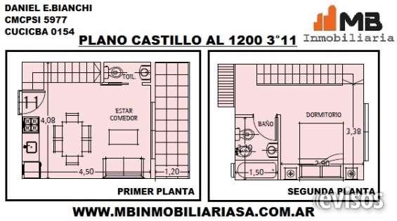 Vendido!!chacarita venta ph en construcción 2 amb.c/balcón en castillo al 1200 3°11