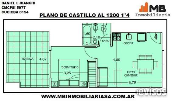 Vendido!! chacarita venta ph en construcción de 2 amb.c/terraza en castillo al 1200 1°4
