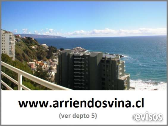 Viñas / reñaca / cochoa alquileres frente al mar divinos !!