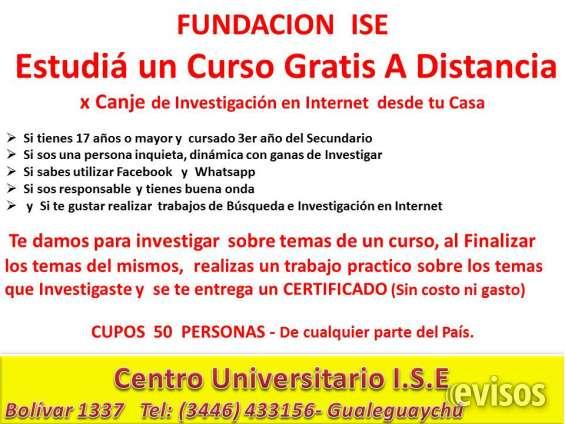 Fundacion ise estudiá un curso gratis a distancia por canje de investigación db001c4d5724