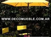 Fábrica de sillas plegables, sillones y mesas plegables, sombrillas y parasoles, reposeras y camastros. sillón director. muebles para jardín.