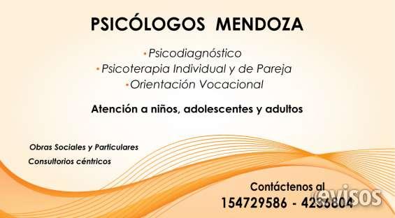 Psicólogos mendoza. psicodiagnóstico. psicoterapia. niños, adolescentes y adultos