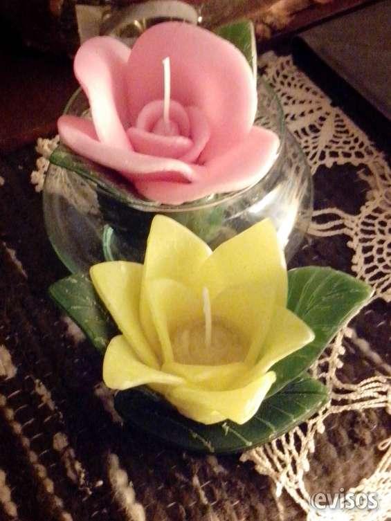 Nenufar y flor vel de apoyo tres tamaños