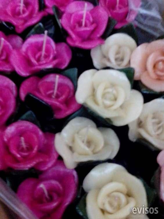 Velas y fanales flores en vela souvenirs