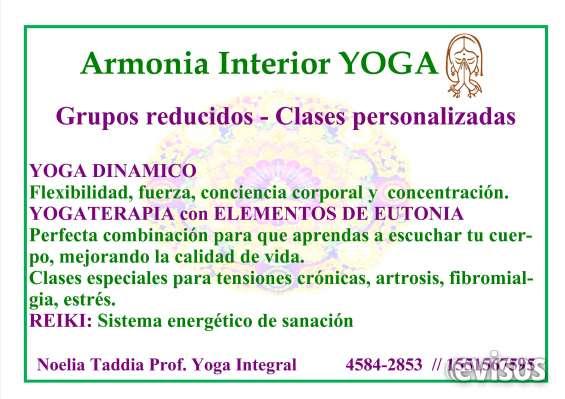 Clases de yogaterapia y dinamico