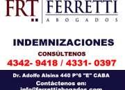 FERRETTI ABOGADOS Indemnizaciones  Avellaneda Telefono al *4342 9418*