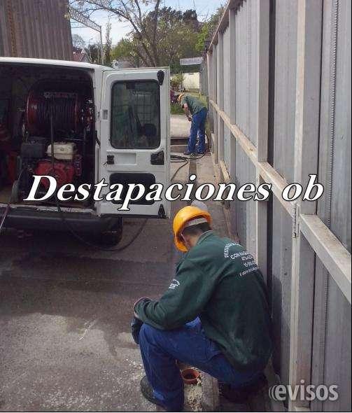 Servicio de destapaciones con maquinas cloacales y pluviales las 24 horas 4734-4230