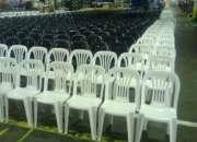 Alquiler de sillas y tablones