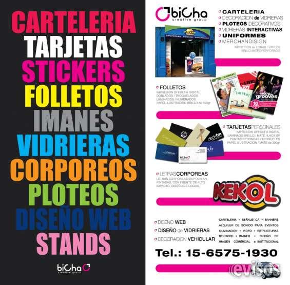Carteleria - backlight - frontlight - corporeos - ploteos - vidrieras - vinilos - banners