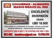 EXCELENTE INVERSIÓN - COCHERAS FINANCIADAS