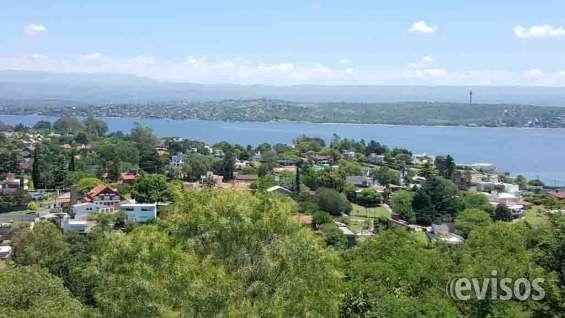 Excelente terreno con gran vista panorámica en villa carlos paz, costa azul