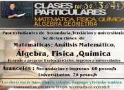 Profesor Universitário/Clases Matemática/ Carreras de Ingeniería/Apoyo química