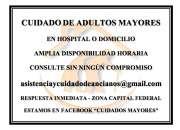 ASISTENCIA Y CUIDADO DE ADULTOS MAYORES