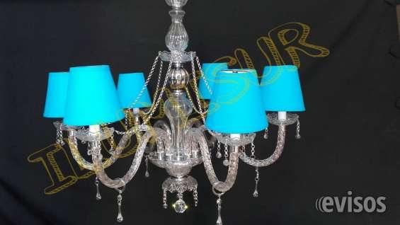 Lamparas & arañas de vidrio caireles modelos nuevos