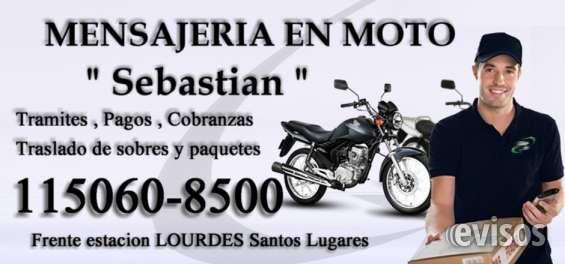 Mensajeria en moto cadete delibery - moto mesajero - moto - caseros - santos lugares