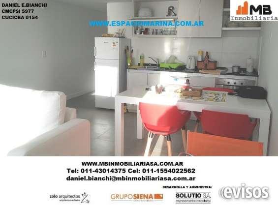 Villa gesell venta 2 amb.c/ balcon,cochera y vista al mar medanos del sur 1°d