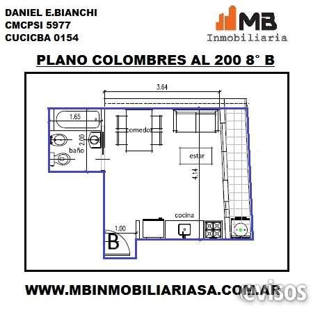 Almagro venta en pozo monoamb.c/balcon en colombres al 200 8°b