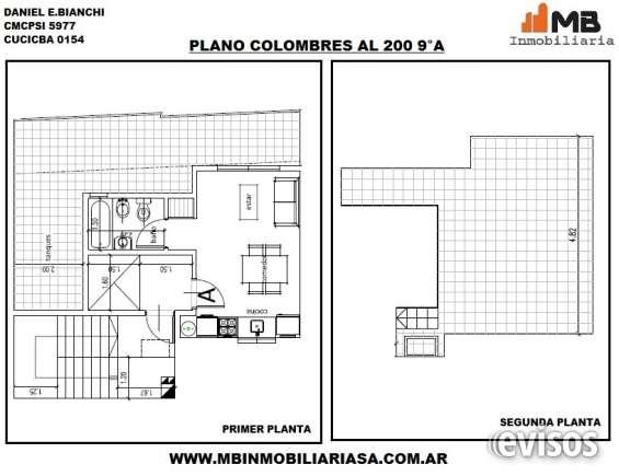 Almagro venta en pozo monoamb.c/balcon y terraza en colombres al 200 9°a