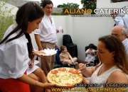 SERVICIO DE PIZZA PARTY PARA EVENTOS 4383-7876/15-6442-5043 BARRAS DE TRAGOS CASAMIENTOS