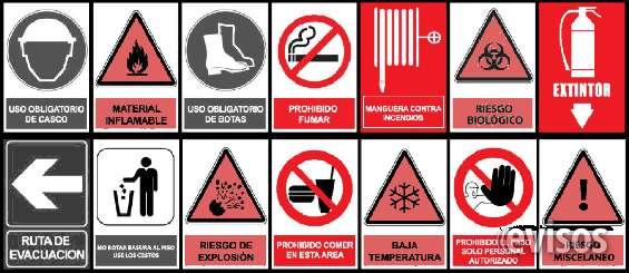 Cartelería seguridad industrial canning
