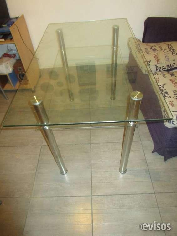 Mesa rectangular de vidrio 1.20 x 0.70