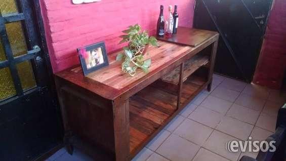 Mueble estilo industrial - madera reciclada hierro –pallets