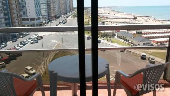 Alquila 1 ambiente en miramar balcón vista al mar ed. playa club
