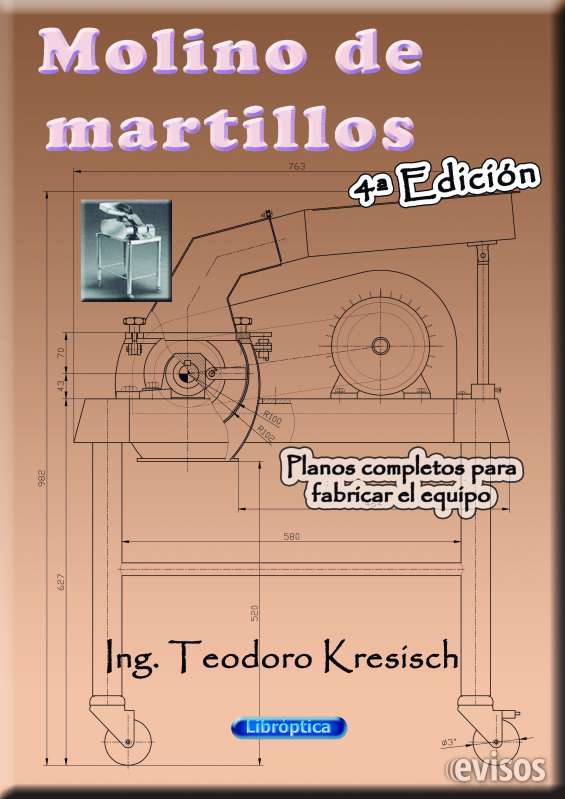 Portada del libro de planos completos para fabricar el molino de martillos