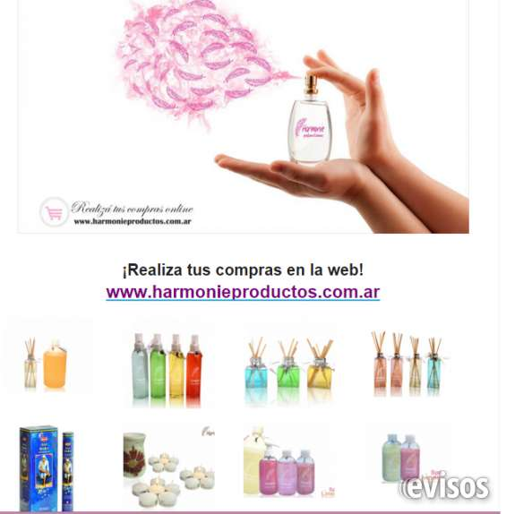 Harmonie productos, difusores aromáticos, sales, esencias, sahumerios, perfumes y más!