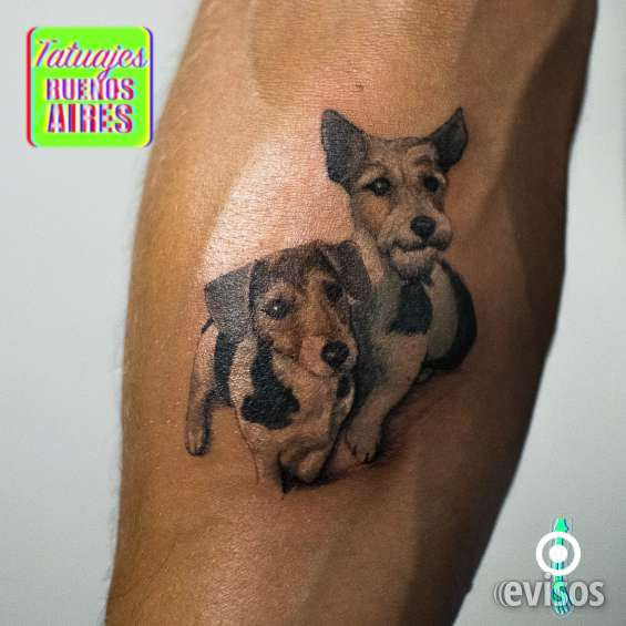 Tatuaje perros realistas realizado por @jose luis segura martinez #tattoo #tattooed #dogs @animals #mascota #amor #perros #hijos #comprañero #compañia #brazo #arm #color #sentimientos #tatuajesbuenosaires