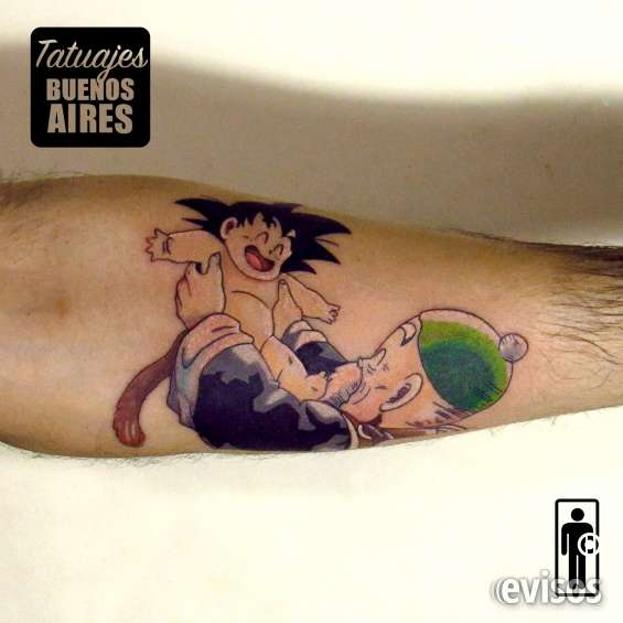 Tatuaje goku realizado por @jose luis segura martinez #tattoo #tatuaje #dragonball #gohan #grandpa #abuelito #anime #infancia #tatuajesbuenosaires