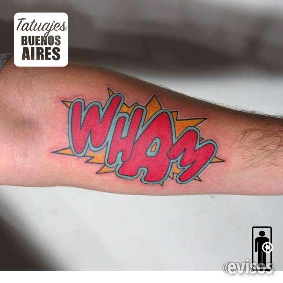 Tattoo wham realizado por @jose luis segura martinez #tattoo #tattooed #historieta #comic #expresion #palabra #revista #onomatopeya #tatuajesbuenosaires #argentina #tatuador #color #rojo #grafiti #letragorda