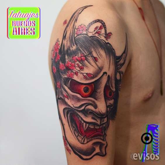 Tatuaje mascara japonesa de hannya realizado por @jose luis segura martinez #tattoo #tatuajes #brazo #hombre #china #chino #rojo #tatuajesbuenosaires