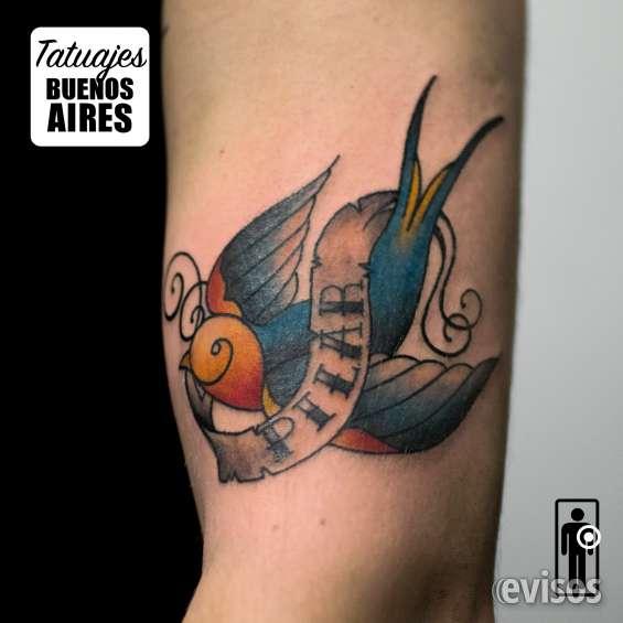 Tatuaje golondrina realizado por @jose luis segura martinez #tattoo #tatuajes #animal #ave #tradicional #fullcolor #brazo #tatuajesbuenosaires