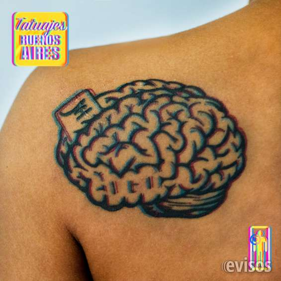 Tatuaje cerebro realizado por @jose luis segura martinez #tattoo #tatuajes #mente #pensamiento #cabeza #espalda #hombro #pensar #unicos #original #3d #efecto #rojo #azul #pelicula #tatuajesbuenosaires