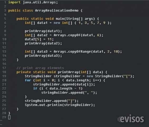 Aprenda programación orientada a objetos java