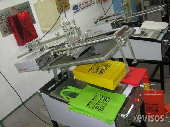 Maquina para serigrafia bolsas ecologicas