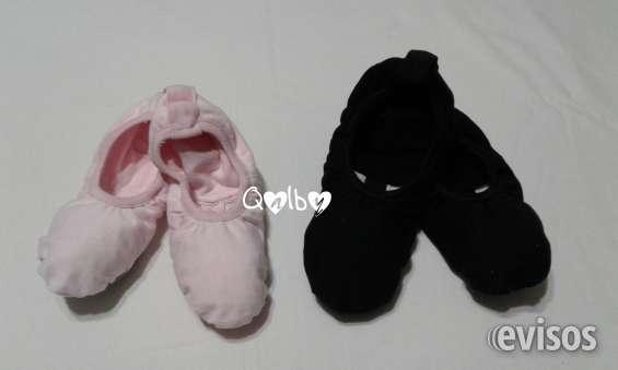 Zapatillas media punta de danza - lona