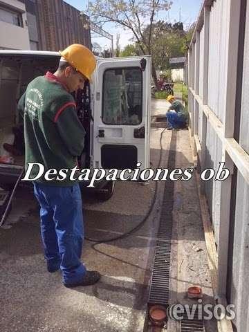 Destapaciones, desagotes, video inspeccion de cañerias, todas las zonas 4734-4230