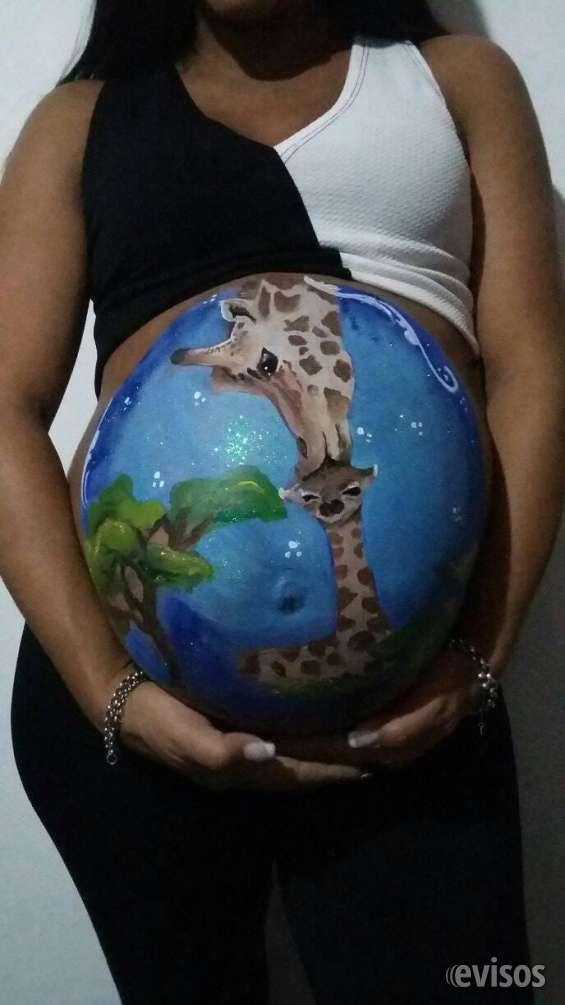 Fotos de Panzas pintadas de embarazadas 3